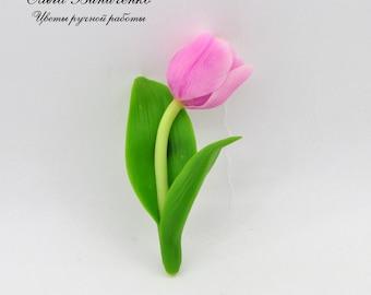 """Brooch """"Pink Tulip"""""""