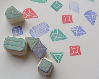 Gemstone rubber stamp set, crystal rubber stamp, diamond rubber stamp, rubber stamp, weding stamp, scrapbooking, diy, cardmaking, wrapping