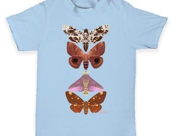 Butterflies And Moths Baby Toddler T-Shirt
