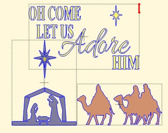 Christmas Nativity Scene Stencil