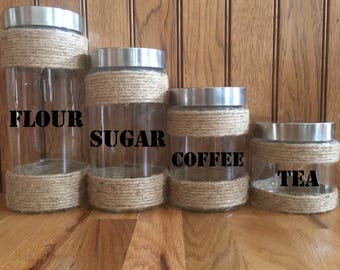 Customize Your own Kitchen Canisters/Farmhouse Kitchen