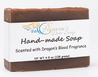 Handmade Dragon's Blood Soap Cold Process Bridal Shower, Wedding Favor, Baby Shower, Gift Soap, Wholesale Available, Bitcoin Accepted