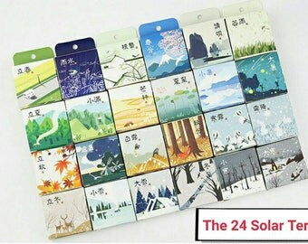 Pre-ORDER 24 rolls The 24 Solar Terms Washi Tapes Set Scrapbooking Planner Stickers Washi Tape Seasons Washi Spring Summer Fall Winter