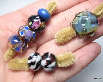 Destash Unknown Artisan Lampwork bead lot #7