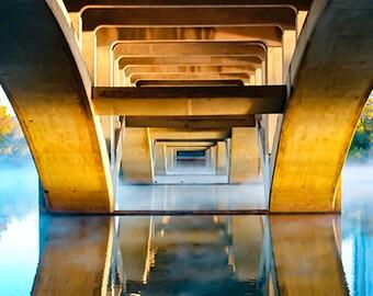 Austin Bridge, Austin Art, Austin Photography, Austin Poster, Art Photography, Art Poster