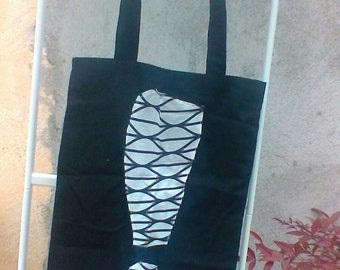 Exclamation cotton tote bag