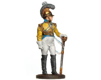 Tin Soldier, Saxonian soldier, Saxonian cuirassier, Napoleonic Wars, Collectible Soldier, Historical Miniature, 54 mm, pewter soldier