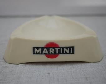 MARTINI triangular ashtray Vintage opal glass. 1960's Martini Milk Glass Ashtray. Advertising ashtray Vintage Martini