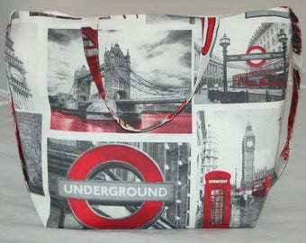 Women's Handmade Tote Bag Large London Shoulder Bag
