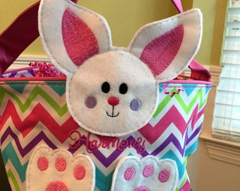 Easter Basket, Bunny, Easter Bunny, Handmade, Bunny