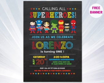 Super hero invitation - superhero invitation templates - superhero birthday party invitation - superhero party invitations
