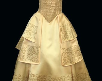 Belle Beauty and the Beast live action inspired gown child size.