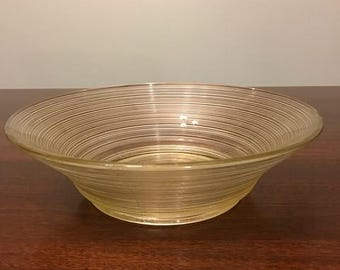 Antique / Vintage Glass Bowl with Ring Design and Seams in Glass