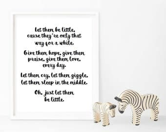 Just let them be little