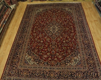 Fine Weave Oversized Ardakan Kashan Wool Persian Oriental Area Rug Carpet 9X14