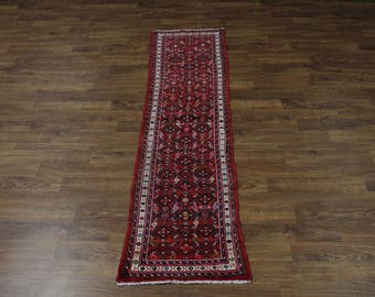 2X9 Narrow All Over Runner Hossainabad Persian Area Rug Oriental Carpet 2'4X9'3