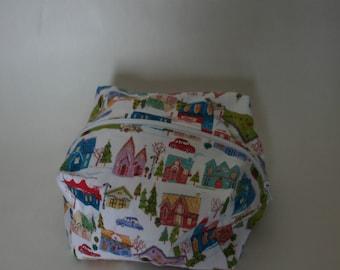 House Print Make Up Bag