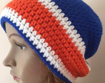 Crochet Florida Gator hat, crochet team hat