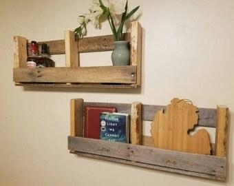 Pallet Shelves *Set of 2* / Natural Unfinshed