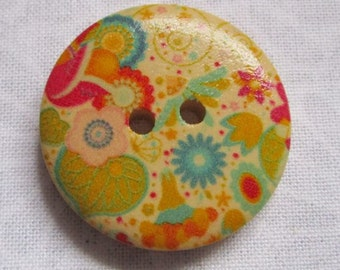 30mm painted wooden button