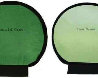 Photography Flash Light Reflectors, Free Shipping, Photography Accessories, Emerald and Lime Double Sided, Fit Shell Reflector