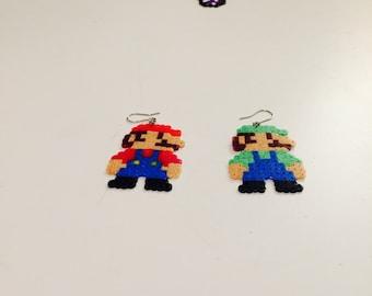 Mario & Luigi Earrings