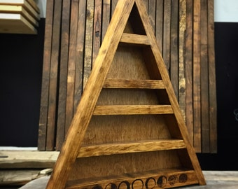 Triangle treasures!  Treasure triangle shelves!
