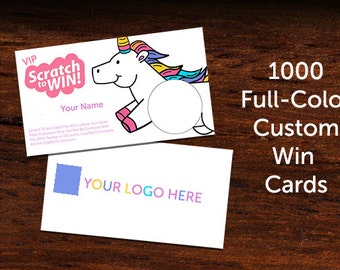 Custom Scratch and Win Consultant Promotional Cards