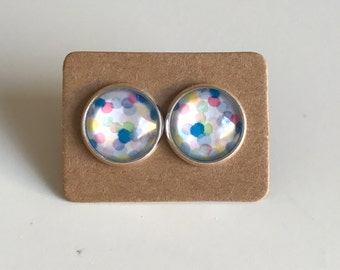 Colourful Confetti Studs