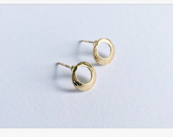 Earplug GOLD drop filigree jewelry