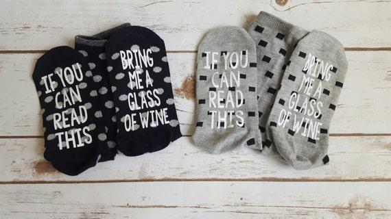 Wine socks/Bring me a glass of wine socks/bring me more beer sock/more tea/beer socks/funny gift/mom gift/gift socks/funny socks/sangria/tea