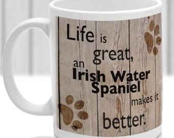 Irish water spaniel dog mug, Irish water spaniel dog gift, dog breed mug, ideal present for dog lover