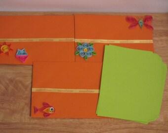 Summer Envelopes for Invitations,Beach Invitation Envelopes,Quilled Summer Envelopes,Colorful Invitation for Envelopes,Customize Envelopes .