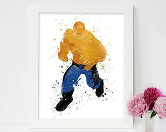 Fantastic Four Prints, The Thing, Marvel Superhero Printables, Fantastic four cast, marvel comics movies, superhero movies, Action movies