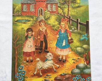 Vintage | Nursery Rhyme | Mary had a little Lamb | Puzzle | Jigsaw Puzzle