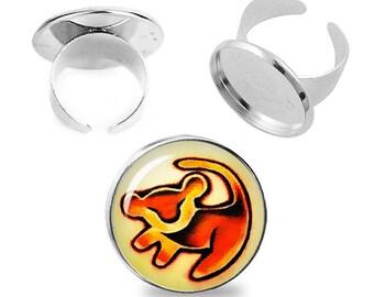 Simba Lion King Adjustable ring Simba Ring Lion King Jewelry Fanboy Fangirl