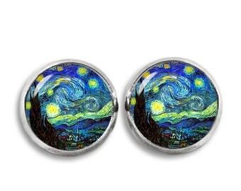 Starry Night Stud Earrings Van Gogh Earrings Van Gogh Jewelry Fangirl Fanboy