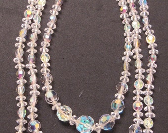 Vintage 1940/50 Multi-strand Crystal Necklace - Perfect for those holiday parties or weddings!