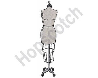 Dressmakers Mannequin - Machine Embroidery Design