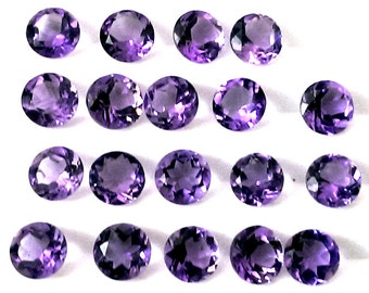 25 pieces 4mm purple amethyst faceted round AAA gemstone - natural amethyst round faceted loose gemstone - Amethyst Faceted Round Gemstone