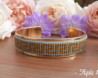 Cuff Bracelet gold LOISE beads Miyuki