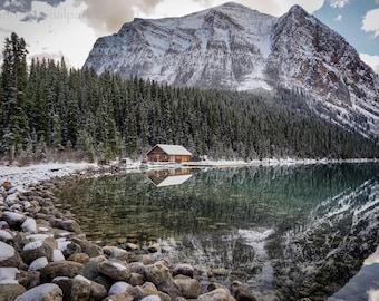 Lake Louise Boathouse Photography Print