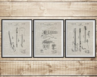 Fender Wall Decor, Patent Print Group, Fender Guitar Art, Fender Decor, Fender Art Print,Precision Bass,Fender Broadcaster, INSTANT DOWNLOAD