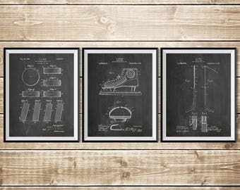 Hockey Wall Print, Patent Print Group, Hockey Art Print, Hockey Stick Art, Hockey Wall Art, Hockey Puck Patent, Hockey Art, INSTANT DOWNLOAD