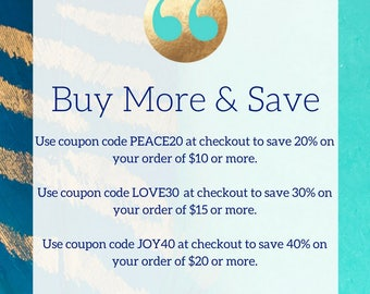 Buy More And Save***Save Money on Multiple Purchases*** Please do not purchase this listing***