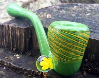 Green and Yellow Glass Sherlock