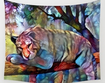 Tiger Tapestry, Dorm Decor, College, Animal Tapestry, Nature Tapestry, Tiger Wall Hanging, Big Cat Wall Hanging, Animal Wall Hanging, Nature
