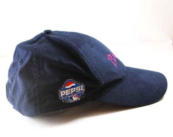 braves tomahawk baseball cap navy blue stadium giveaway hat lucky brand