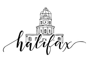 Halifax Clock Tower Print