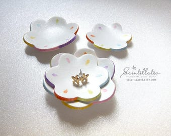 Flower Trinket Dish Duo - One for you & one for mini you! – Jewelry Dish, Ring Dish, Clay Dish, Handmade, Motivational Craft